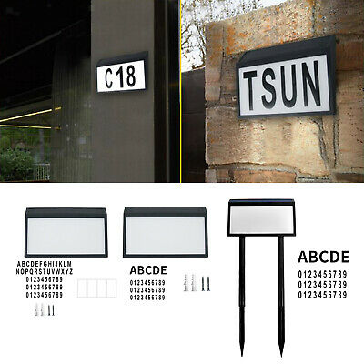 £27.78 • Buy House Numbers Plaque IP65 Waterproof LED Lighted Solar Address Sign For Home