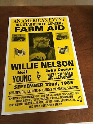 $12.99 • Buy Willie Nelson-Farm Aid14X22 Concert Poster , Full Color, Champaign, Ill