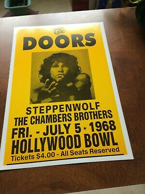 $11.99 • Buy The Doors. 14X22 Concert Poster, Full Color, Hollywood Bowl July 5th, 1968, MINT