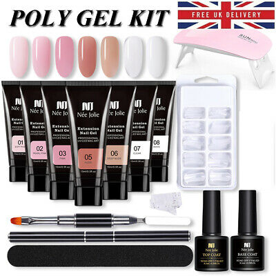 £4.99 • Buy Poly Extension Gel Nail Kit NEE JOLIE Nail Salon Quick BuilderGel Set With Lamp