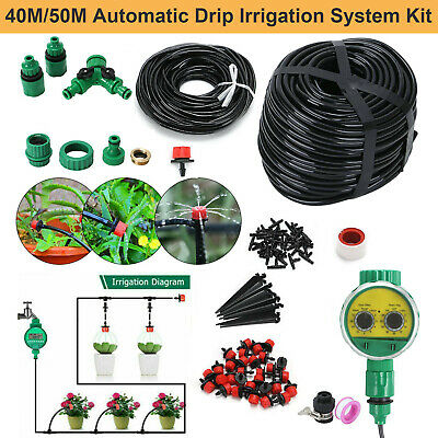 £13.50 • Buy 160FT Automatic Drip Irrigation System Kit Plant+Timer Self Watering Garden Hose