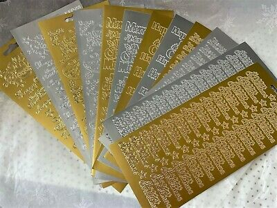 £1.85 • Buy Peel Off Stickers - CHRISTMAS GREETINGS - Gold Or Silver   *SEE MULTI BUY OFFER*