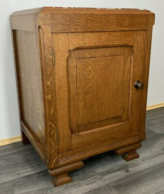 £149 • Buy Rare Carved French Antique Bedside Table Cupboard Cabinet With Marble Top