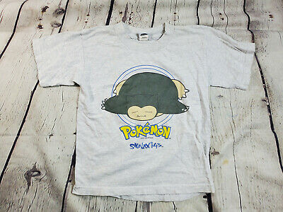 $55 • Buy Vintage 90s Official Pokemon Snorlax T Shirt Youth Small