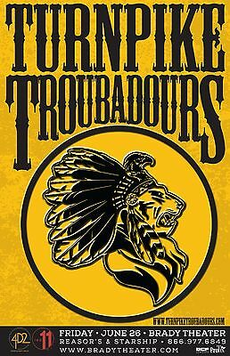 $17.15 • Buy TURNPIKE TROUBADOURS 2015 TULSA CONCERT TOUR POSTER - Country /Roots /Folk Rock