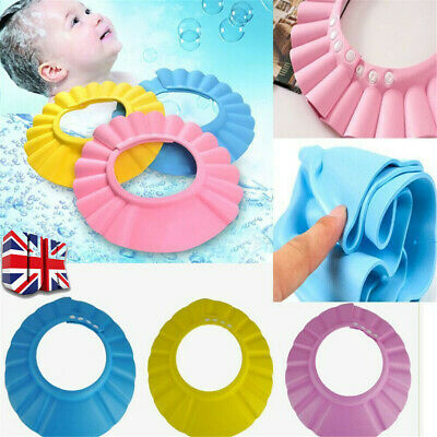 £2.99 • Buy Waterproof Baby Kids Child Shower Cap For Hair Wash Bath Soft Protect Shield Hat