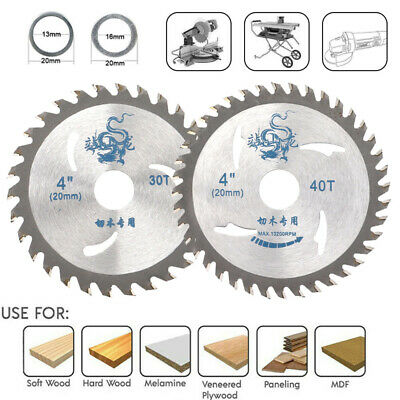 £5.69 • Buy 100mm Carbide Circular Saw Blades Wood Saw Cutting Disc 30 40T For Angle Grinder