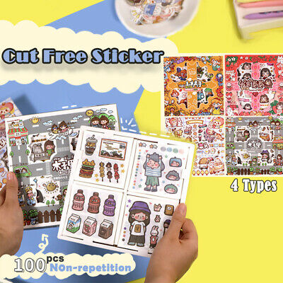 AU7.95 • Buy SALE! 100PCS Paper Stickers Decors Book Stationery Bullet Journal GIFT Diary AU