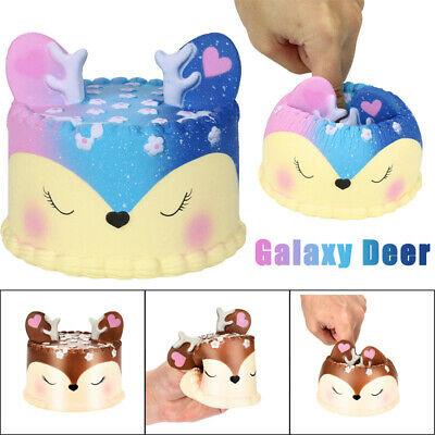 AU17.53 • Buy Squishies Slow Rising Deer Cake Toy Stress Relief Toy Kids Autism Squeeze Toy