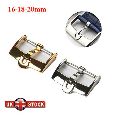 £8.99 • Buy Gold/Silver 16 18 20mm Stainless Steel Buckle/Clasp For Omega Watch Strap Band
