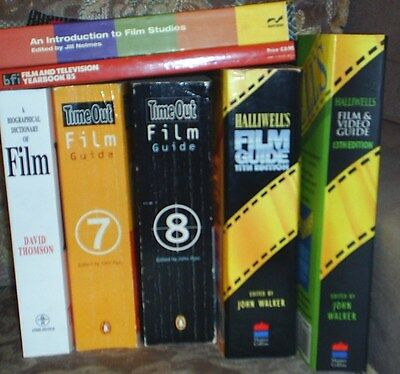 £10 • Buy 7 Film Books.time Out & Halliwel's Guides.film Studies.biographical Dictionary
