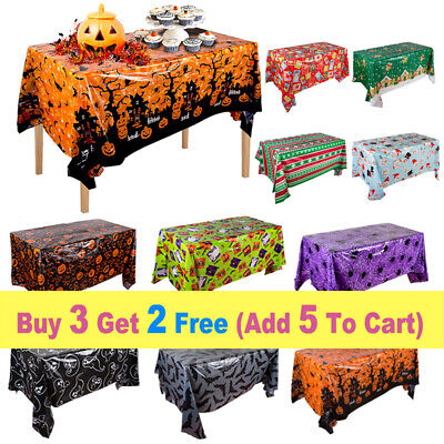 £4.49 • Buy Halloween Tablecloth 51 X87  Rectangle Christmas Dinner Party Table Cover Decor