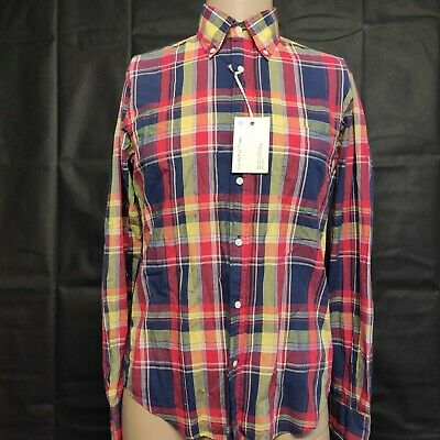 £21.11 • Buy Gant Rugger Mens Multicoloured Plaid Long Sleeve Button Up Shirt Size S NWT
