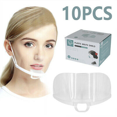 £6.19 • Buy 10x Face Shield Visor Protection Mouth Shield Safety Clear PPE Reusable UK