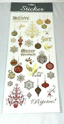 £1.95 • Buy 1 SHEET GOLD/SILVER CHRISTMAS FOILED SLOGAN STICKERs   # CRAFT/CARD MAKING