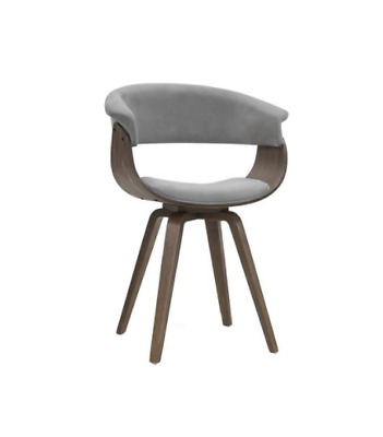 AU80 • Buy Artiss Dining Chairs Bentwood Chair Kitchen Velvet Fabric Timber Wood Retro Grey