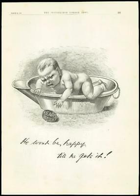 £14.96 • Buy 1888 - Advertising Pears Soap Baby Bath Full Page (72)