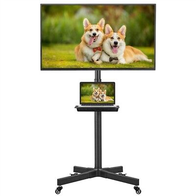 £43.99 • Buy Mobile TV Stand Trolley Cart On Wheels For 23in-55in Plasma/LCD/LED Screen