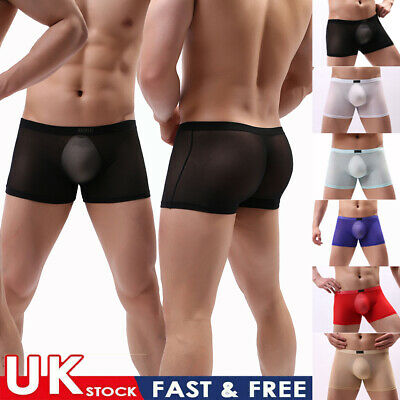 £4.85 • Buy Men Breathable Underwear Shorts Briefs Boxers Trunks See Through Underpants UK