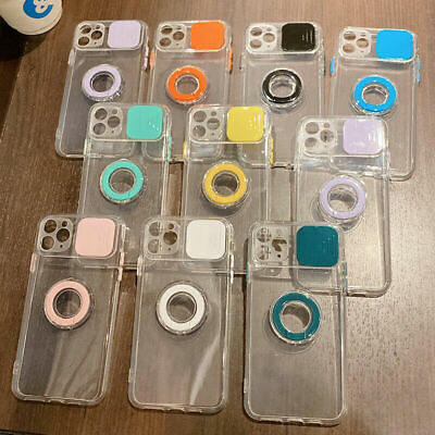 AU14.89 • Buy Clear Phone Case With Ring Stand For IPhone 11 12 Pro Max XS XR 7 8 Plus Cover