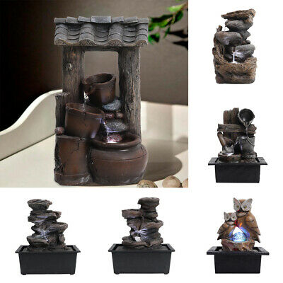 £25.95 • Buy Different Garden Water Feature Fountain With LED Lights Outdoor-Cascading Barrel