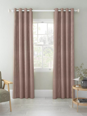 £59.99 • Buy John Lewis W167 X D137 Pair Textured Weave Lined Eyelet Curtains, Mocha, £100
