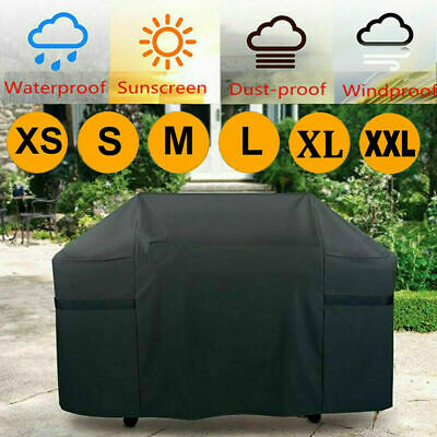 £9.99 • Buy Heavy Duty BBQ Cover Waterproof Barbecue Grill Protector Outdoor Covers M/L/XL