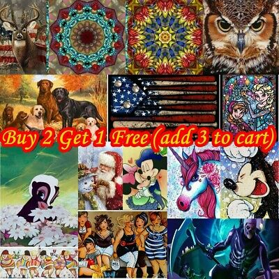 AU12.99 • Buy 5D Full Drill Diamond Painting Cross Stitch Kits Home Embroidery Decor Crafts