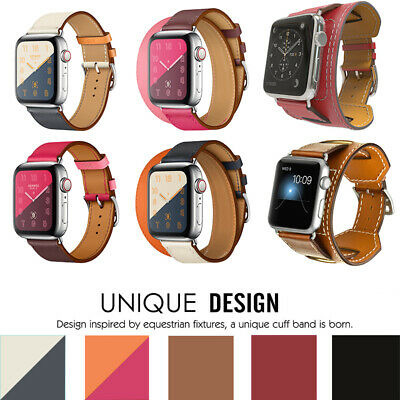AU15.38 • Buy Genuine Leather IWatch Band Single Tour Strap Bracelet For Apple Watch 38 40mm