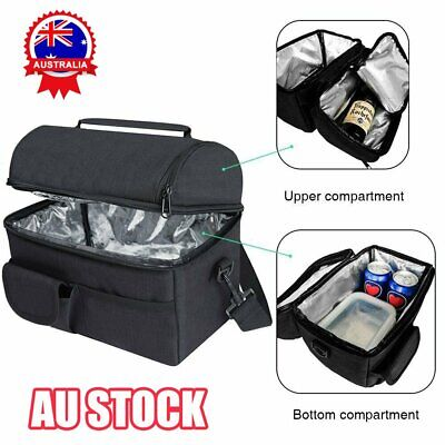 AU18.56 • Buy 8L Insulated Lunch Cooler Bag Box For Men Women Kids Storage Portable Thermal ZE