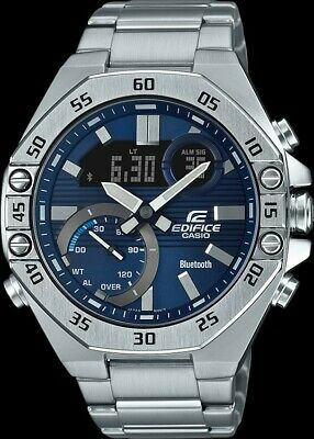 £119.39 • Buy Casio Edifice G-Shock Bluetooth Blue Dial Stainless Steel Men's Watch #ECB10D-2A