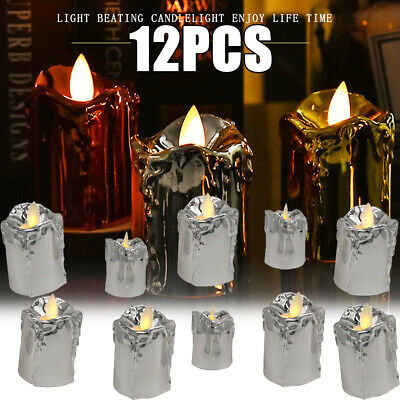£16.13 • Buy 12x LED Flameless Tea Light Candle Swinging Dancing Flame Electronic Candles