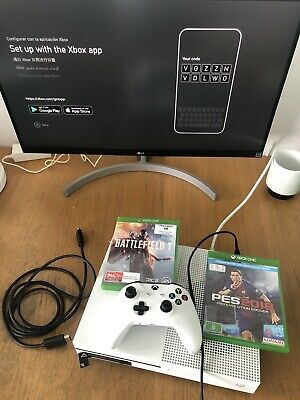AU285 • Buy Xbox One S 500GB With A Controller And 2 Games Good Condition!!