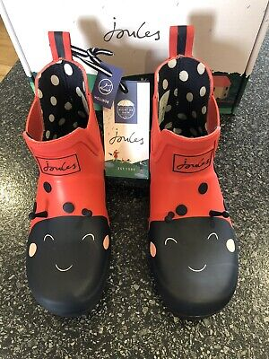 £20.80 • Buy Joules Girls Size 13 Red Ladybird Wellibob Wellies NEW/BOXED 🐞❤️🐞❤️