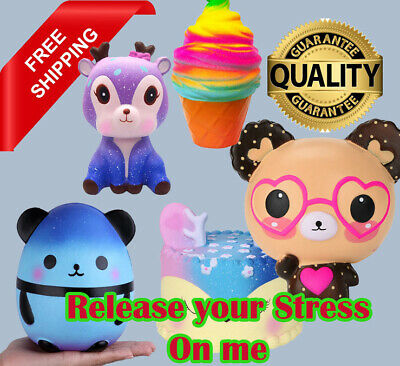 AU10.64 • Buy Jumbo Stress Relief Squishy Soft Attractive Elastic Toy Slow Rising Gift For Kid