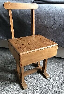 £30 • Buy Small Vintage Children's 'Taylor' Wooden School Chair With Storage Lift Up Seat