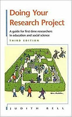 £3.56 • Buy Doing Your Research Project: A Guide For First-time Researchers In Education And