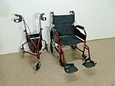 £70 • Buy  EXCELLENT U-GO ~ Push Along Large Wheel Chair ~ & Shopping Trolley In Burgundy