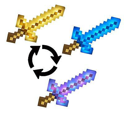 AU49.99 • Buy Minecraft Lights And Sounds Sword Light Up Colour Changing Action Toy Brand New