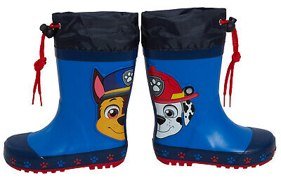 £16.95 • Buy Paw Patrol Wellington Boots Kids Chase Marshall Tie Top Wellies Rain Snow Shoes