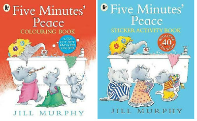 £8.95 • Buy NEW X 2 FIVE MINUTES PEACE Activity STICKER & COLOURING Book The LARGE FAMILY