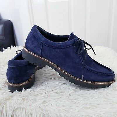 £39.99 • Buy Clarks Originals Wallabees Size UK 6 Suede Shoes Navy Blue Moccasin