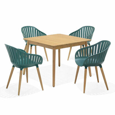 AU1090 • Buy NEW Marina Outdoor Recycled Plastic 4 Seater Square Timber Dining Setting  Patio