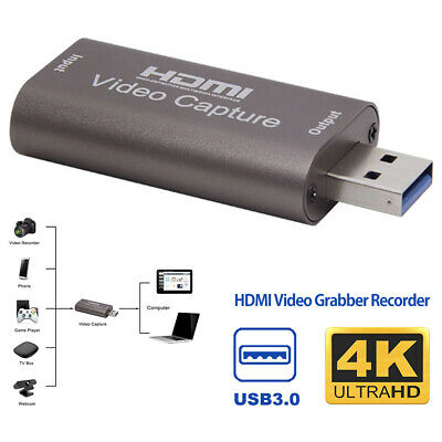 £8.59 • Buy HDMI To USB 3.0 2.0 Video Capture Card 4K HD Recorder For Video Live Streaming~