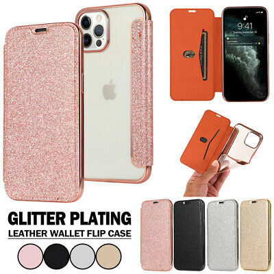 AU13.99 • Buy For IPhone 13 12 11 Pro Max XR XS 8 Plus Glitter Case Leather Wallet Flip Cover
