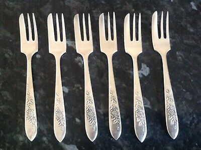 £7.75 • Buy Set Of 6 Silver Plated EPNS Cake Forks VINERS OF SHEFFIELD ENGLAND