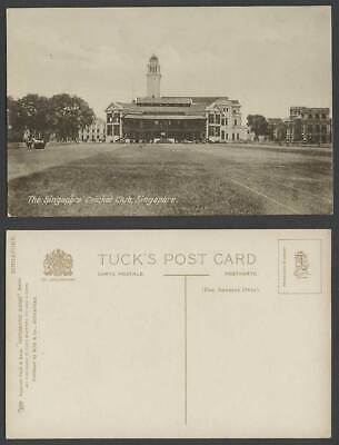 £17.99 • Buy Singapore CRICKET CLUB Clock Tower Old Postcard Tuck's Photographic Glosso Serie