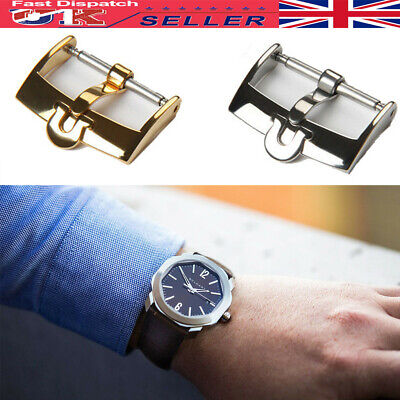 £9.99 • Buy Stainless Steel Buckle Clasp Fit For Omega Watch Strap Gold/Silver 16 18 20mm UK