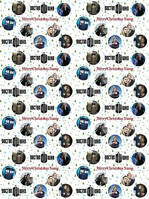 £3.59 • Buy Doctor Who Personalised Christmas Gift Wrapping Paper 4 Designs ADD NAME