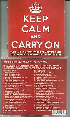 £0.99 • Buy Keep Calm And Carry On 2 X Cd / 50 Tracks Favourite Wartime Music / Home Front